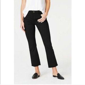 NWT J Jill black kick flare ankle jeans raw hem 2P